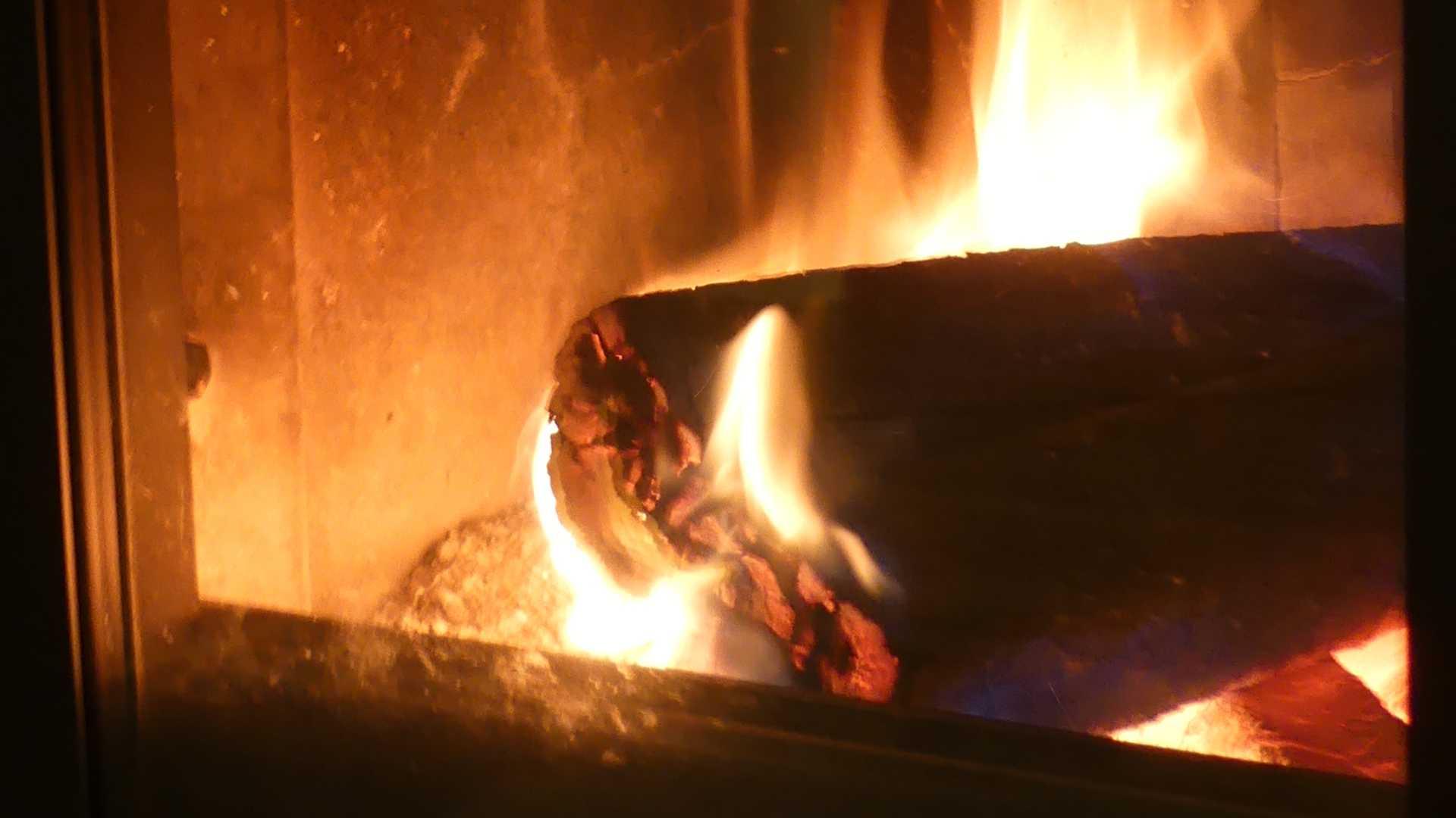 Brandend hout
